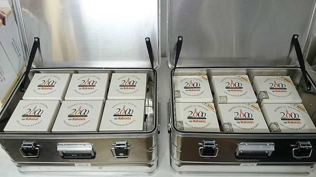 2 Ammo-boxes of Jars - 6 Cohiba & 6 Montecristo Millenium Edition