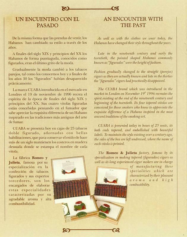 Booklet Cuaba 2001