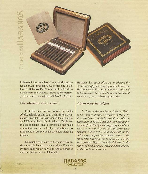 Colección Habanos 2003 - Hoyo de Monterrey Extravaganza - Booklet page 3
