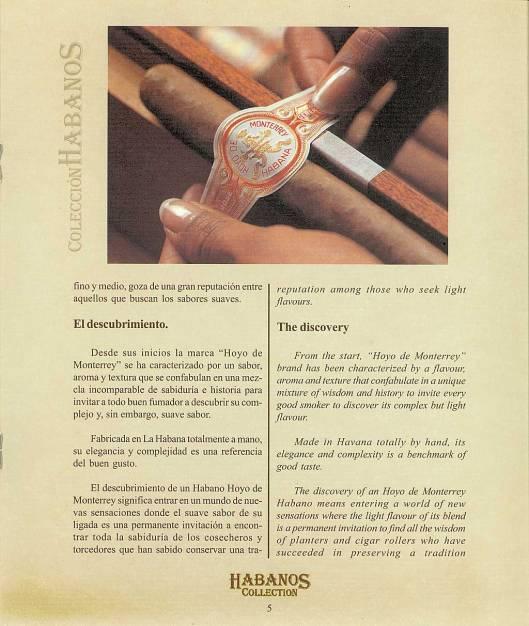 Colección Habanos 2003 - Hoyo de Monterrey Extravaganza - Booklet page 5