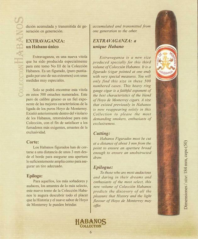 Colección Habanos 2003 - Hoyo de Monterrey Extravaganza - Booklet page 6