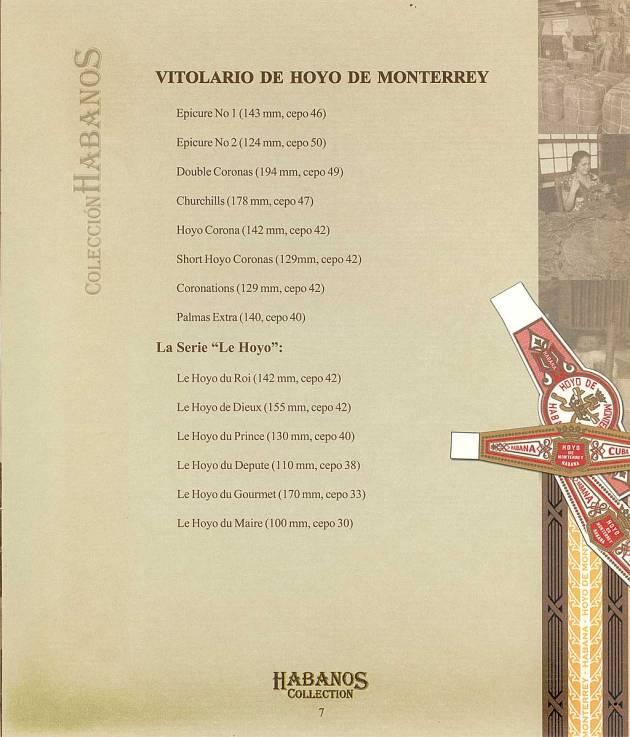 Colección Habanos 2003 - Hoyo de Monterrey Extravaganza - Booklet page 7