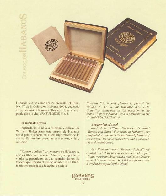 Colección Habanos 2004 Romeo y Julieta - Booklet Page 03