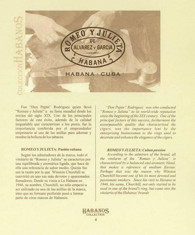 Colección Habanos 2004 Romeo y Julieta - Booklet Page 04