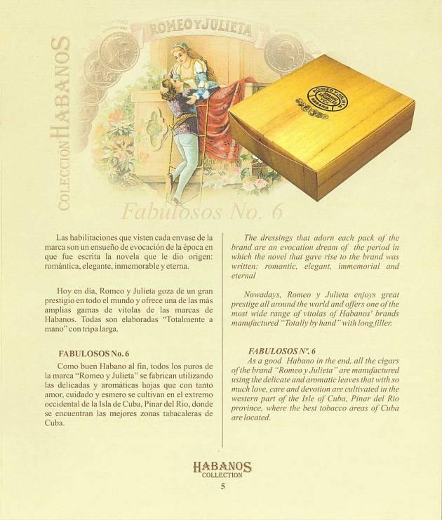 Colección Habanos 2004 Romeo y Julieta - Booklet Page 05