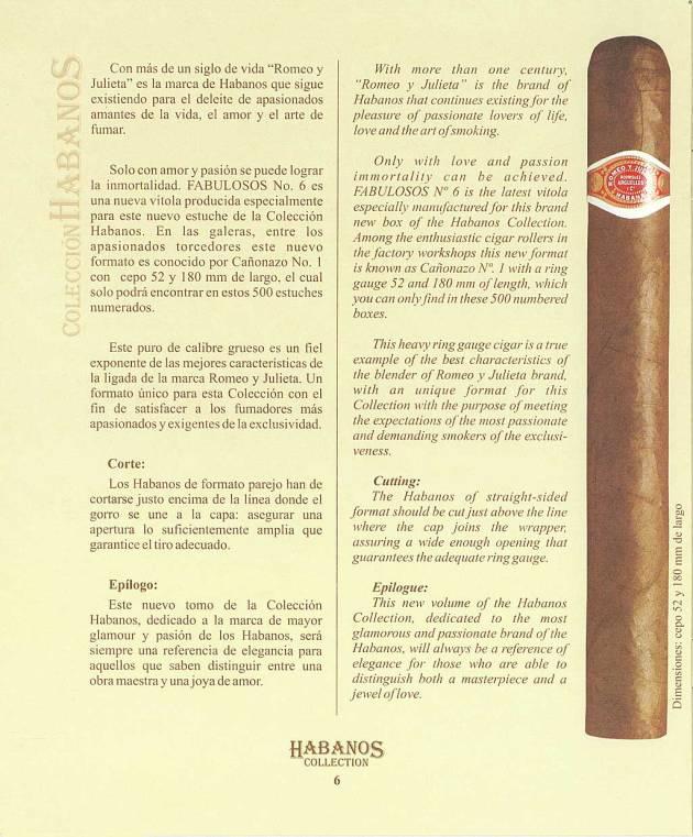 Colección Habanos 2004 Romeo y Julieta - Booklet Page 06