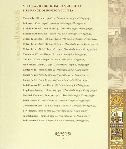 Colección Habanos 2004 Romeo y Julieta - Booklet Page 07