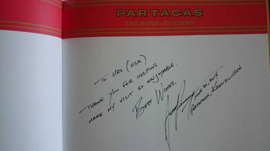 Amir Saronis kind words and signature