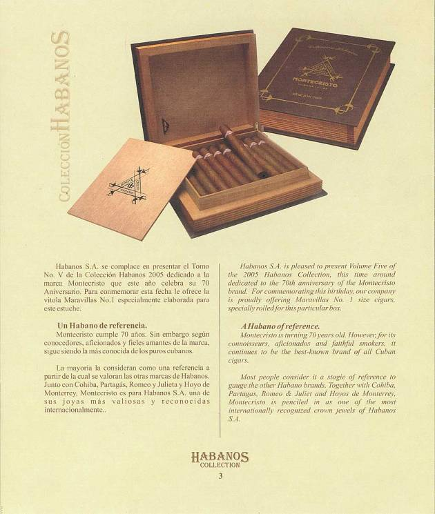 Colección Habanos – 2005 – Montecristo - booklet page 03