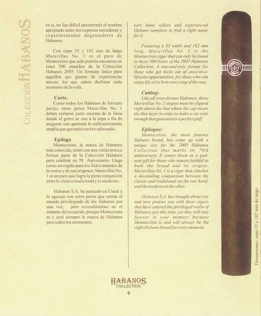 Colección Habanos – 2005 – Montecristo - booklet page 06