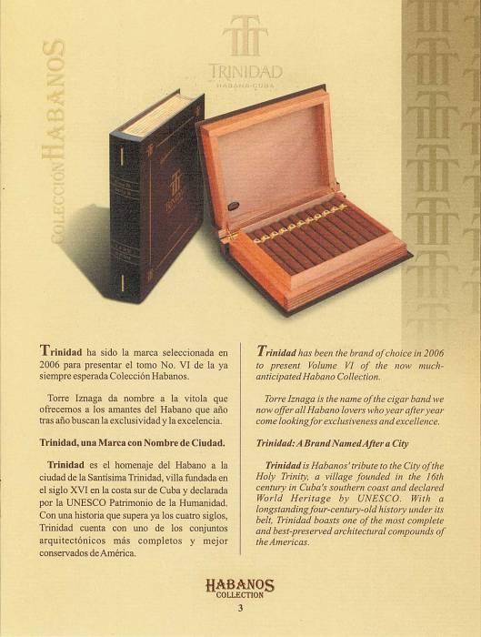 Colección Habanos – 2006 – Trinidad - booklet page 3