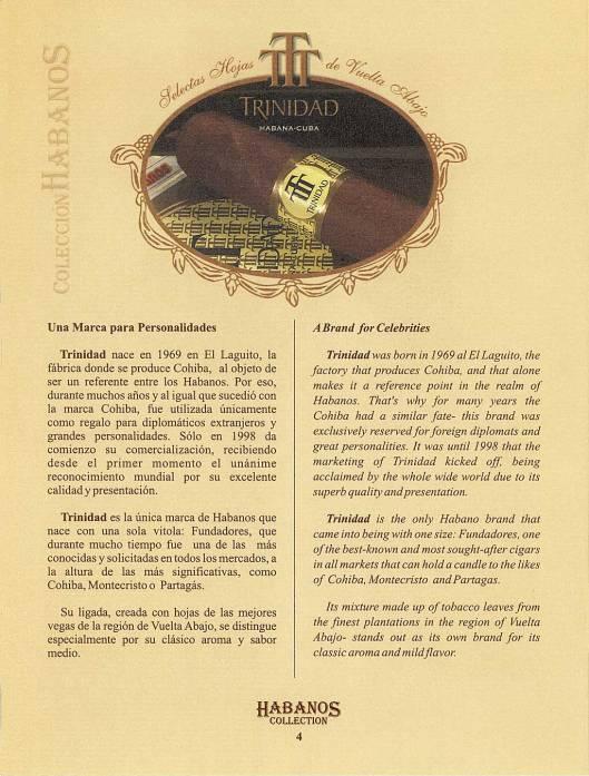 Colección Habanos – 2006 – Trinidad - booklet page 4