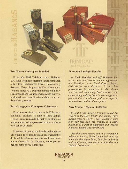 Colección Habanos – 2006 – Trinidad - booklet page 5
