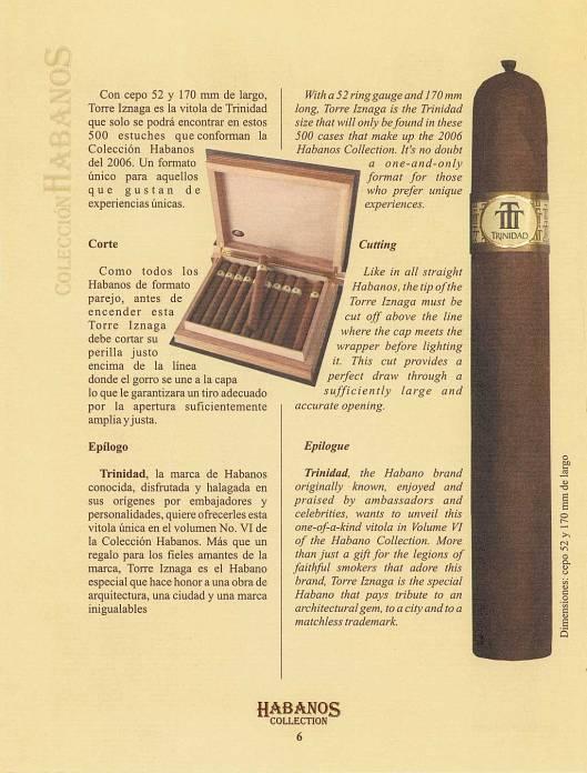 Colección Habanos – 2006 – Trinidad - booklet page 6