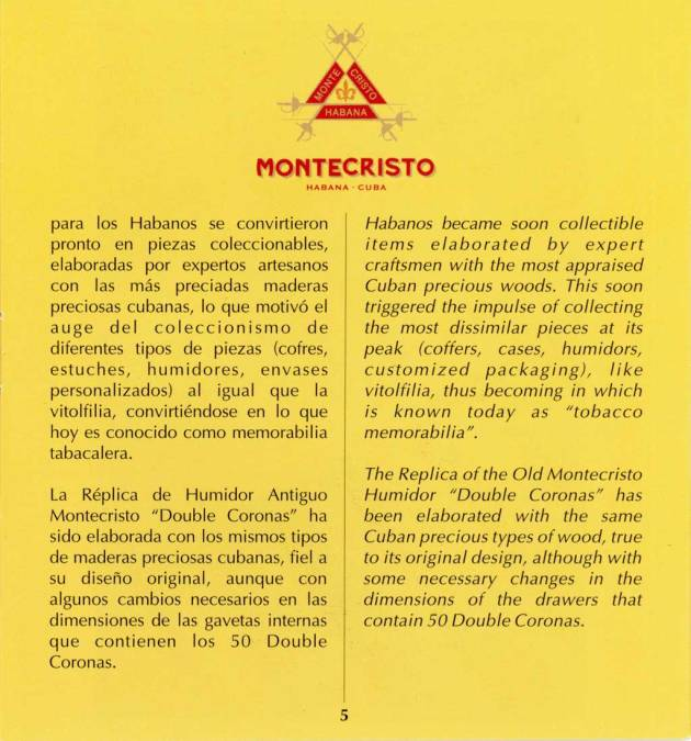 Montecristo - Réplica de Humidor Antiguo 2009 - booklet page 05