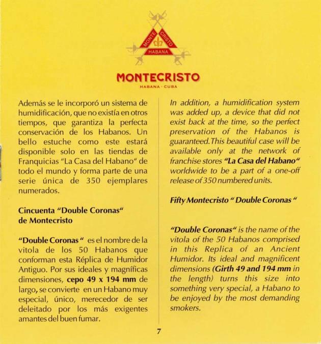Montecristo - Réplica de Humidor Antiguo 2009 - booklet page 07