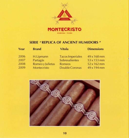 Montecristo - Réplica de Humidor Antiguo 2009 - booklet page 10