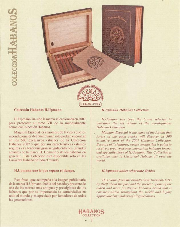 Colección Habanos – 2007 – H. Upmann - booklet page 3