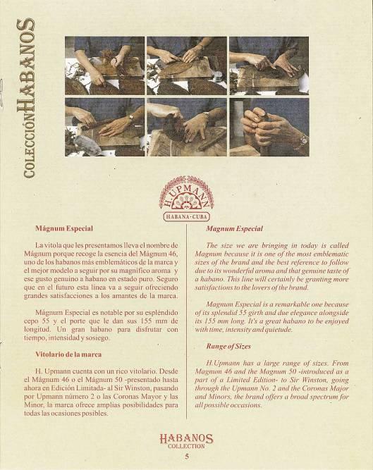 Colección Habanos – 2007 – H. Upmann - booklet page 5