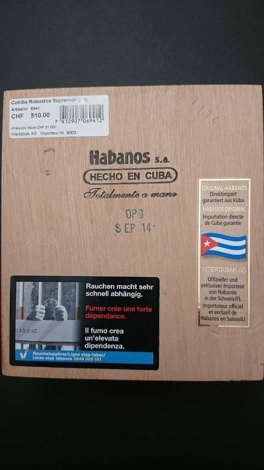 Cohiba Robustos Supremos – Edición Limitada 2014