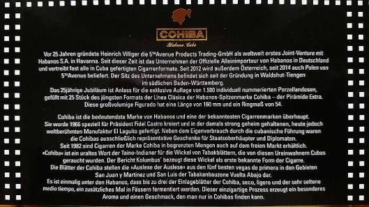 Cohiba Pyramides Jar - 25 Aniversario 5th Avenue