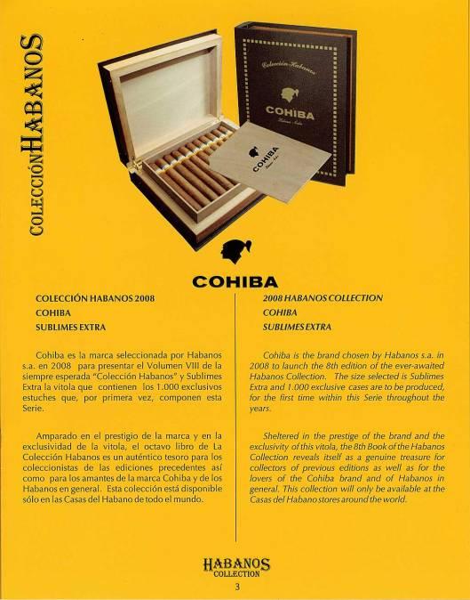 Colección Habanos – 2008 – Cohiba - booklet page 3