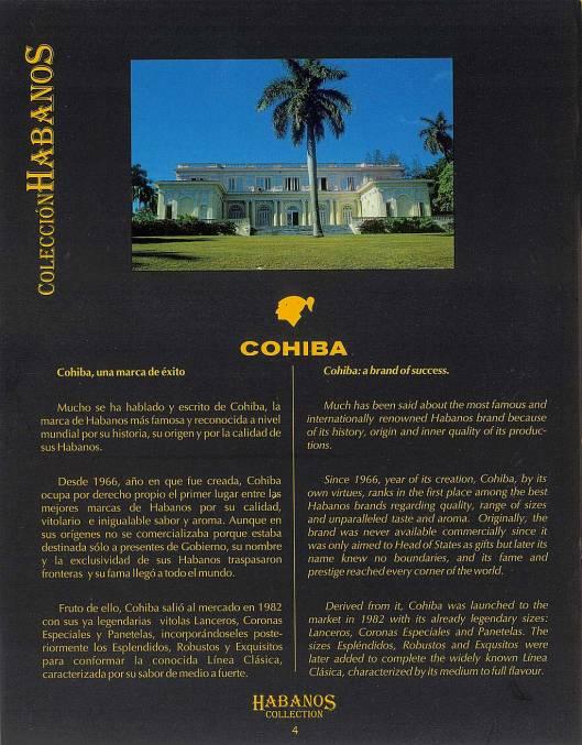 Colección Habanos – 2008 – Cohiba - booklet page 4