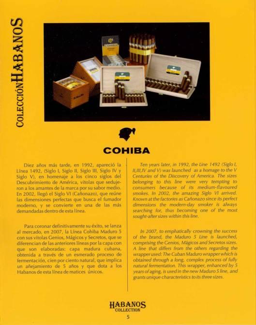 Colección Habanos – 2008 – Cohiba - booklet page 5