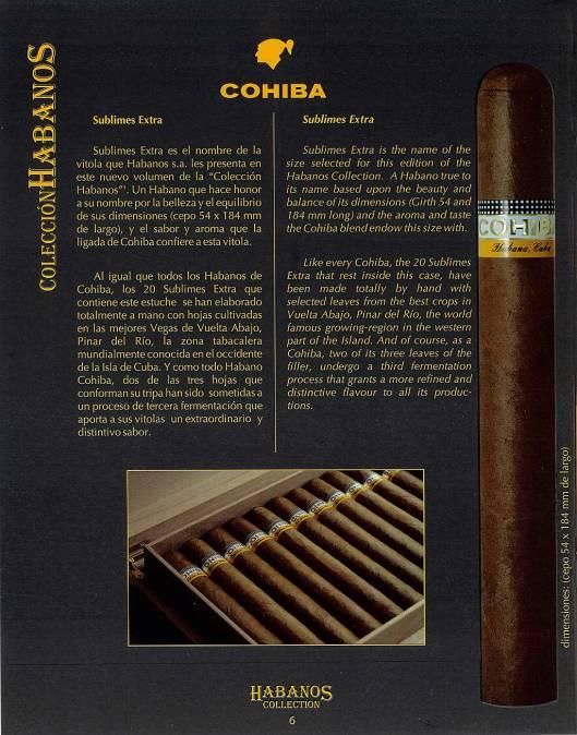 Colección Habanos – 2008 – Cohiba - booklet page 6