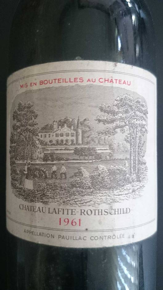 Label Lafite-Rothschild 1961