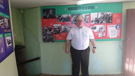 Me in a bunker of Hotel Nacional de Cuba