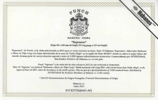 Punch Supremos Edición Regional Suiza 2015