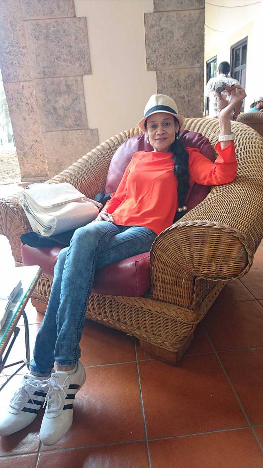 Yacqui relaxing in the Hotel Nacional de Cuba